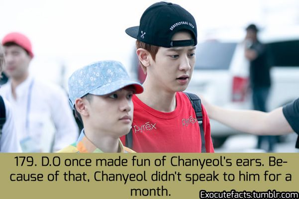 Exo Facts....Oh D.O....I'm sure he learned from that mistake...and I think this would've probably been when they were new trainees or something....they are wayyy too close now to be making truly hurtful comments to each other