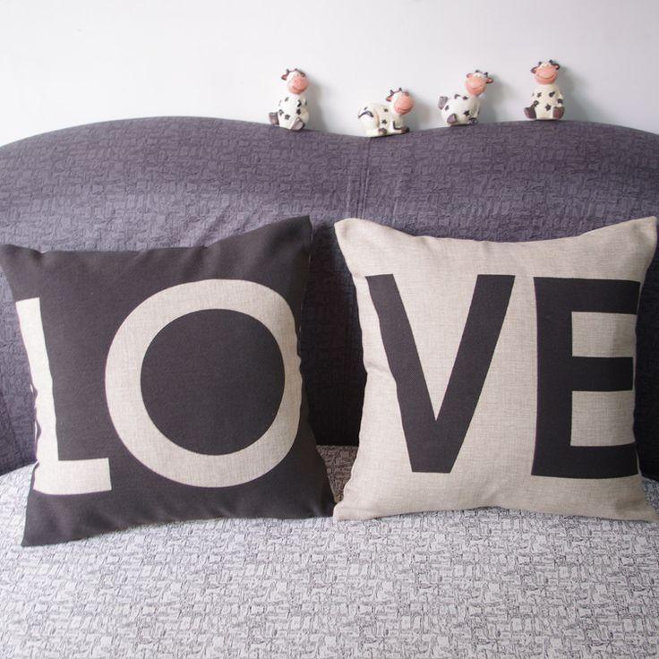 В Европейском стиле день святого валентина пару писем Г Н Г Жа хлопок и лен подушка подушки Скандинавского тяжелых купить на AliExpress