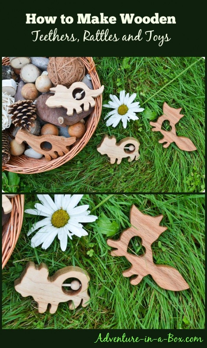 How to Make Wooden Teethers, Rattles, Simple Toys #giveaway