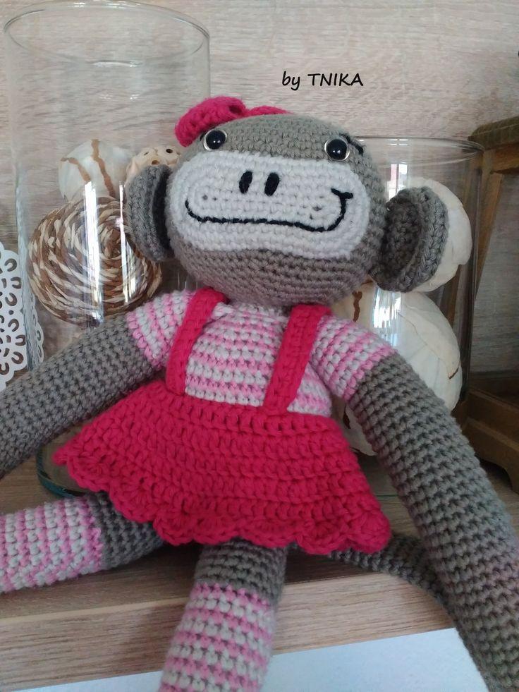 Slečna opička * Miss Monkey by Tnika * crochet pattern * návod háčkování
