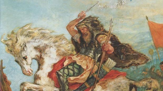Atila, según Delacroix