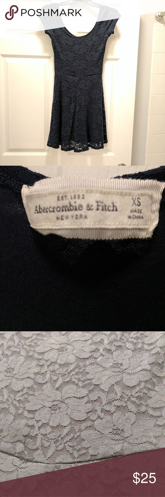 Navy blue lace babydoll Abercrombie dress Great condition. Worn once. Abercrombie & Fitch Dresses Mini