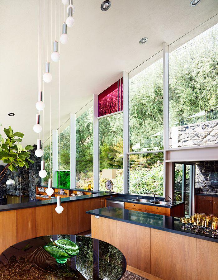 Belvedere vintage à Los Angeles : John Lautner, Garcia House, Los Angeles, cuisine.