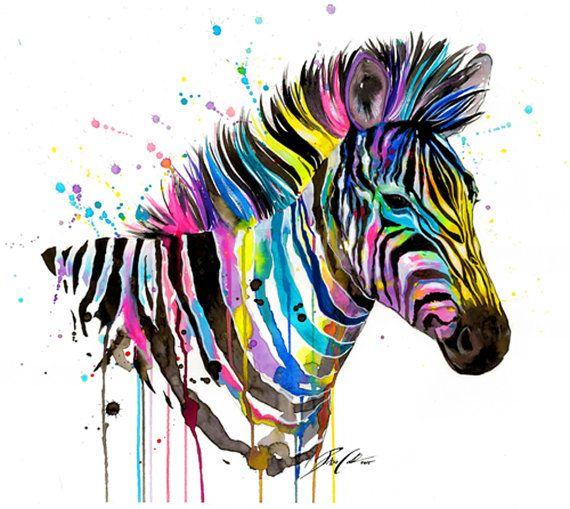 "Arte Print ""Zebra"""