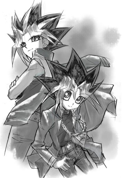 Yami & Yugi.. Sorry! Yu-Gi-Oh was one of my favorite animes (and my first! X3 )!!