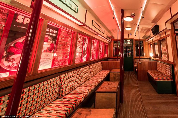 Enjoy being able to drink on the tube! Cahoot is a 1940s themed bar opening in Soho, and transports guests back to the period, with an old tube carriage for seating, sandbags and classic cocktails