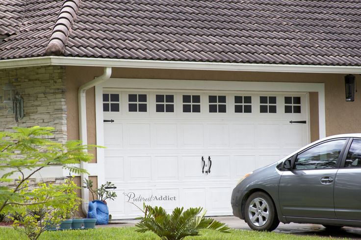 Create a Faux Carriage Garage Door & Improve Your Curb Appeal :: Hometalk