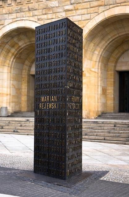 Poznan, Poland's Monument to Polish mathematicians who cracked Enigma Code in WWII 1932/1933, leading to a quicker end to the war. Marian Rejewski, Jerzy Różycki and Henryk Zygalski.