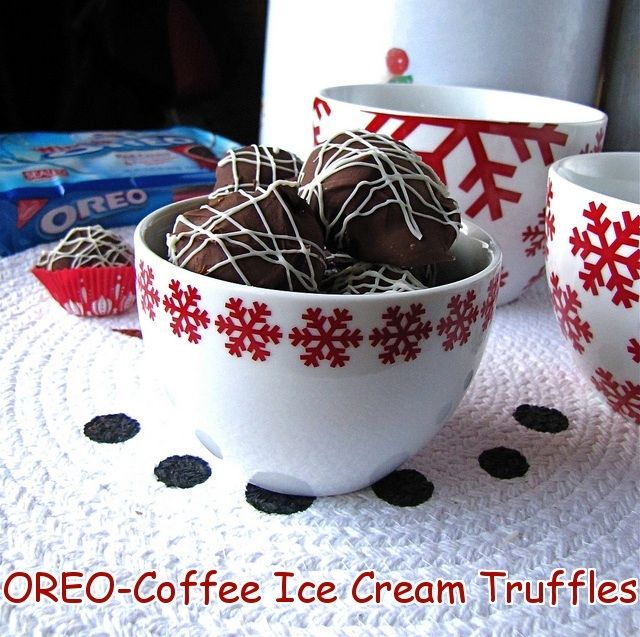 OREO Coffee Ice Cream Truffles