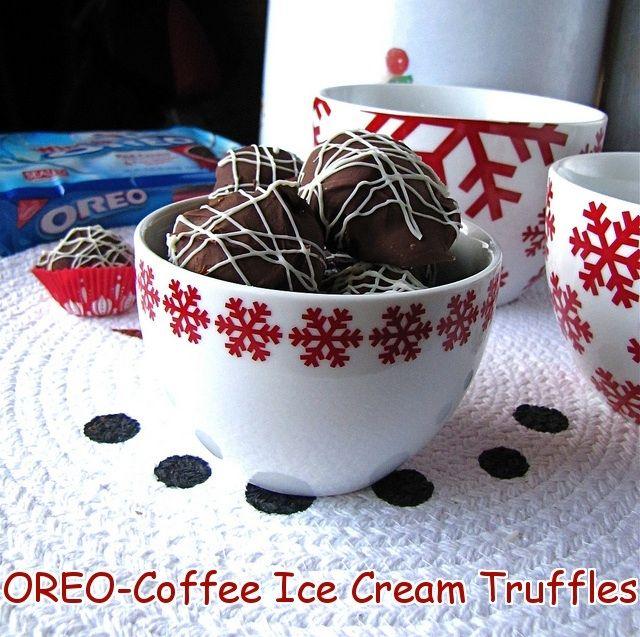 OREO Coffee Ice Cream Truffles