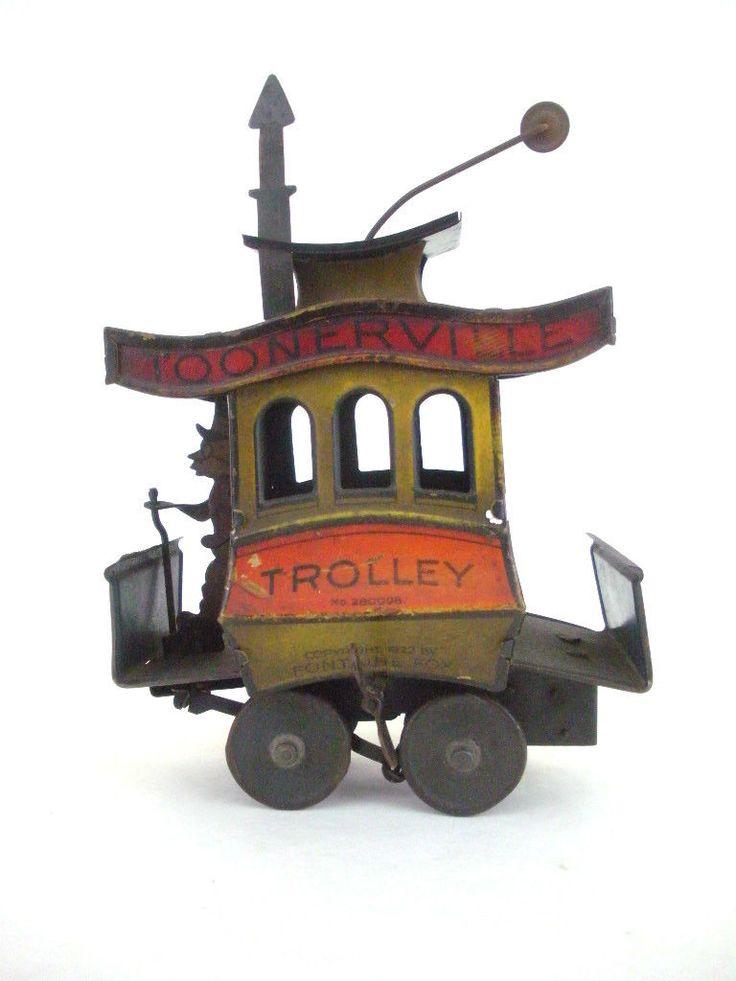 1922 toonerville trolly заводные литография олова игрушечные поезда старинный винтажный Nifty | eBay