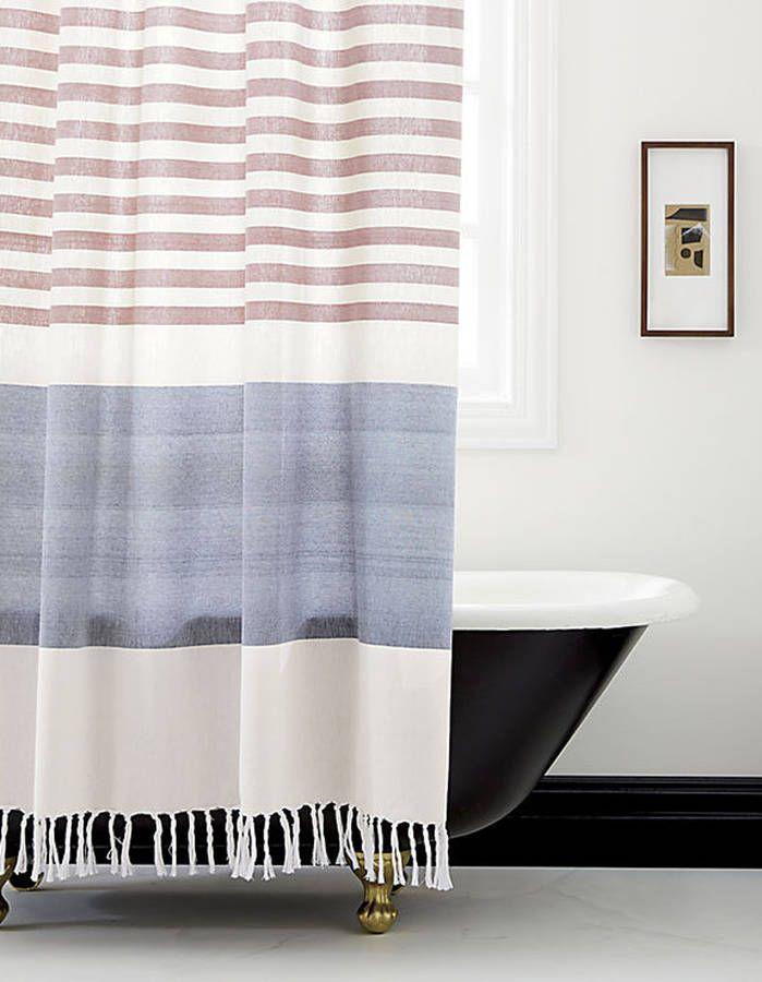 elegant rideau de douche rayures with rideau douche pvc transparent. Black Bedroom Furniture Sets. Home Design Ideas