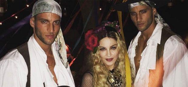 Madonna With Handsome Hunks - IndiaShor.com