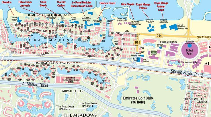 Dubai Beach Hotel Map - Dubai • mappery