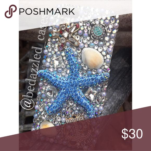 iPhone 6 case iPhone 6 nautical bedazzled phone case handmade by me (: Insta:@bedazzled_cases Accessories Phone Cases