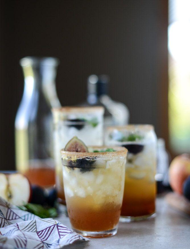 minted apple shrub & a maple fig bourbon soda I howsweeteats.com