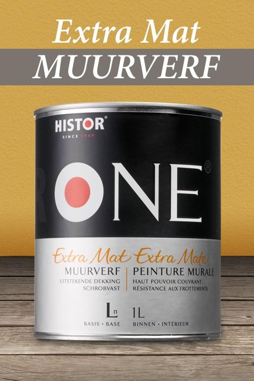 HistorONE Muurverf Extra mat | Geeft een chique mat resultaat.