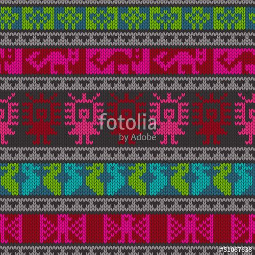 """Download the royalty-free vector """"Traditional andean knitting pattern"""" designed by Katerina Pavlichenko at the lowest price on Fotolia.com. Browse our cheap image bank online to find the perfect stock vector for your marketing projects!"""
