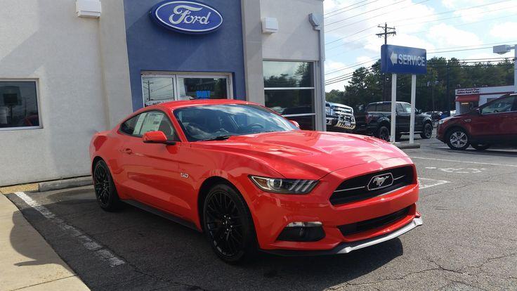 Fresh orange 2015 Mustang
