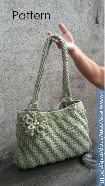 INSTANT DOWNLOAD Diagonal Textured Purse with  by NatalieSpot