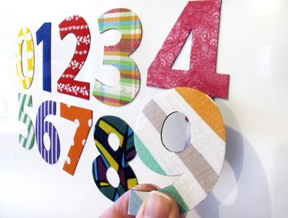 'number stew' magnets - 10 numerals, bold bright colours, 0-9