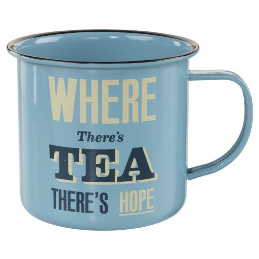 Mug en étain 'Where There's Tea There's Hope'