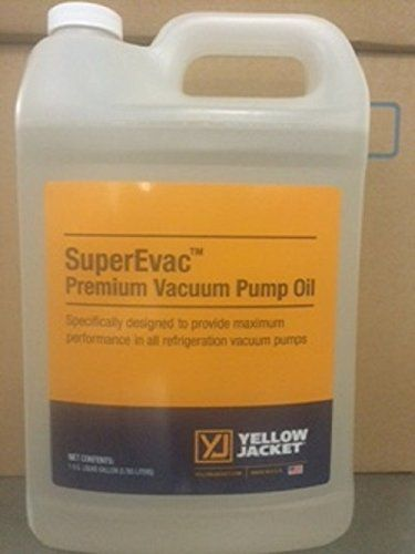 Yellow Jacket 93194 SuperEvac Vacuum Pump Oil- Gallon. For product info go to:  https://www.caraccessoriesonlinemarket.com/yellow-jacket-93194-superevac-vacuum-pump-oil-gallon/