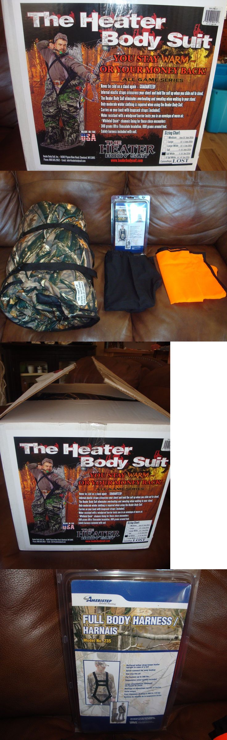 Other Hunting Clothing and Accs 159036: Nib The Heater Body Suit W/2 Overlays: Orange And Black And Harness, Sz Tall Wide -> BUY IT NOW ONLY: $329 on eBay!