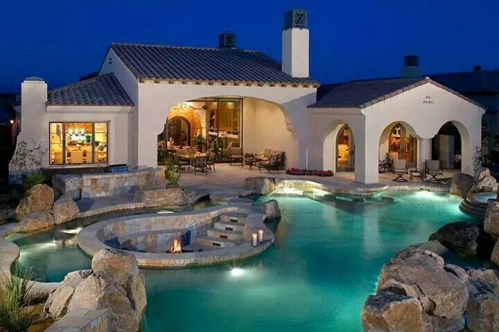 beautiful backyard pool outdoor ideas pinterest. Black Bedroom Furniture Sets. Home Design Ideas