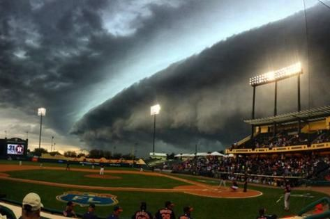 Fans Liken Storm That Ends Astros-Braves Game Early to the Apocalypse