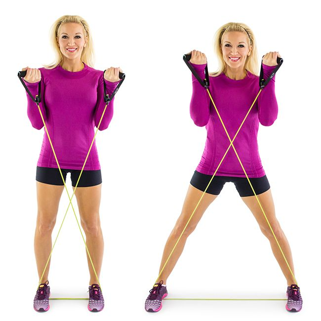 Resistance Band Full-Body Workout. This is a great warmup move for your entire body.