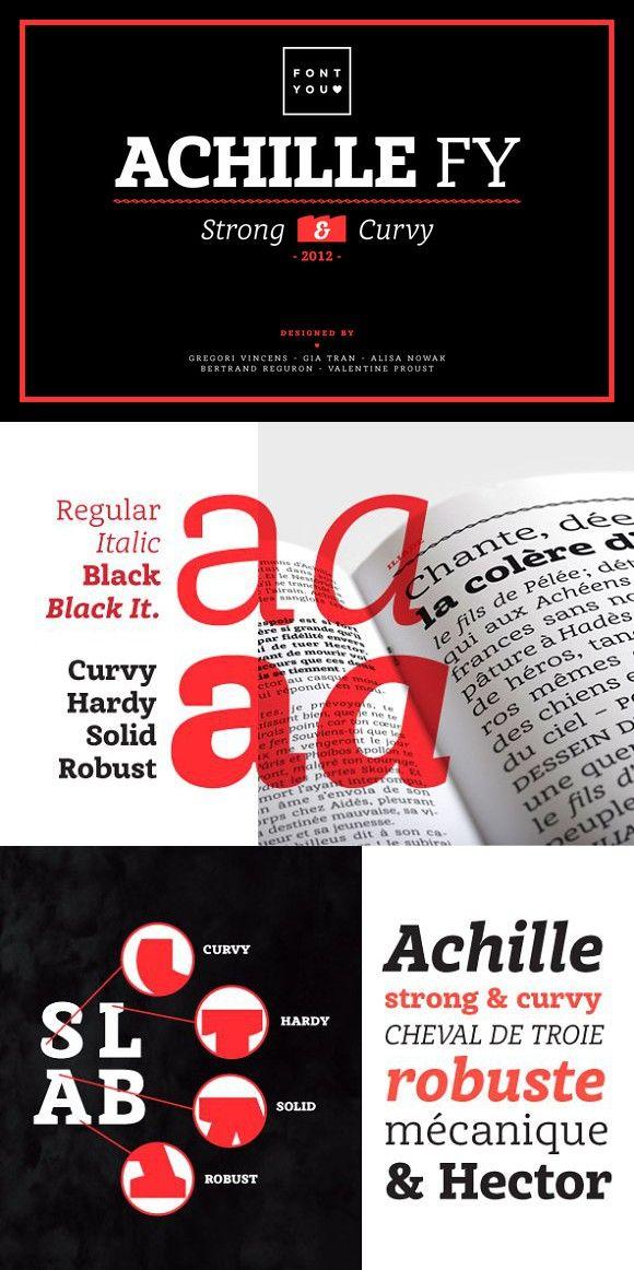 Achille FY Black Italic. Slab Serif Fonts. $70.00