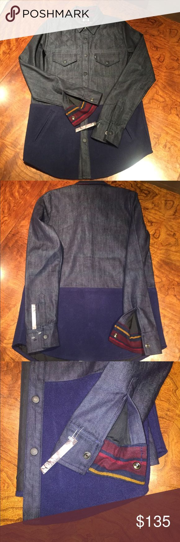 ZAK LOS ANGELES DENIM JACKET😎😎😎 Beautiful ZAK LOS ANGELES Denim Jacket! Fully lined Jacket a Hipster's favorite designer of Los Angeles. Yoke top front stitching. Snap pockets at chest. Bottom has two slit pockets Felt is navy blue. New never worn. Bought at Wasteland on Melrose. ZAK Jackets & Coats