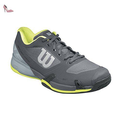 Wilson Wrs322660e100, Chaussures de Tennis Homme, Gris (Ebony / Monument / Lime Punch), 44 2/3 EU - Chaussures wilson (*Partner-Link)