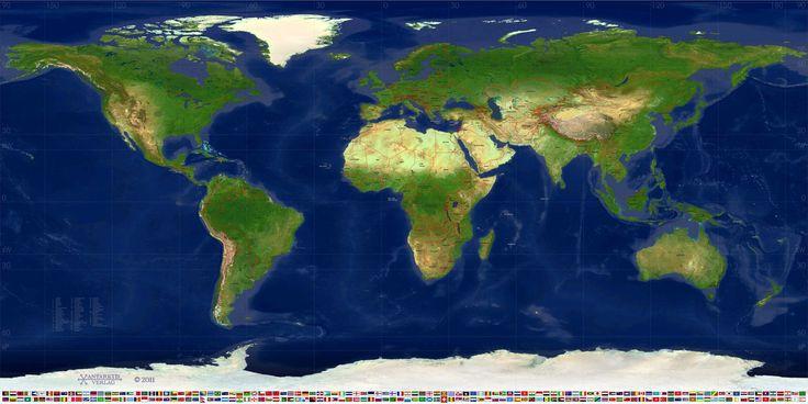 PVC-Banner Weltkarte politisch Typ A
