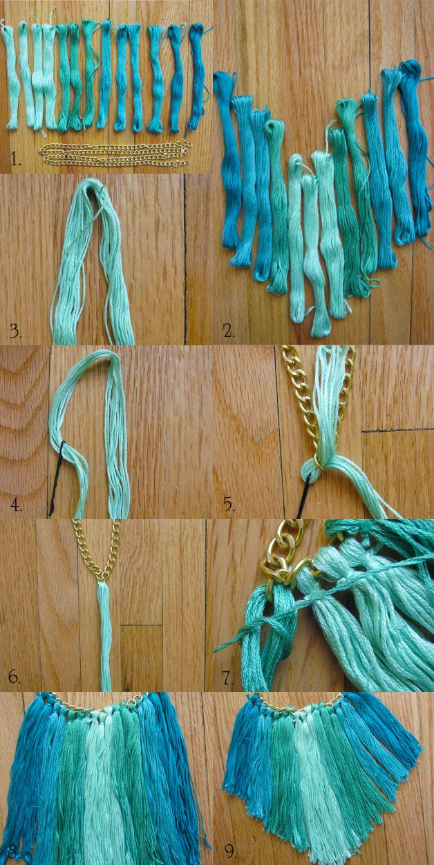 DIY Tassel Necklace - #diy