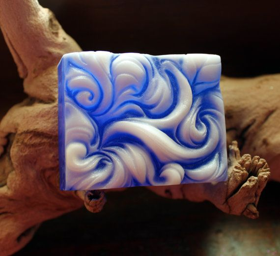 WAVE SOAP Swirl Soap Hostess Gift Birthday Soap by thecharmingfrog
