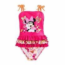 Traje De Baño Para Niña Minniemouse Disney Rosa T-7-8