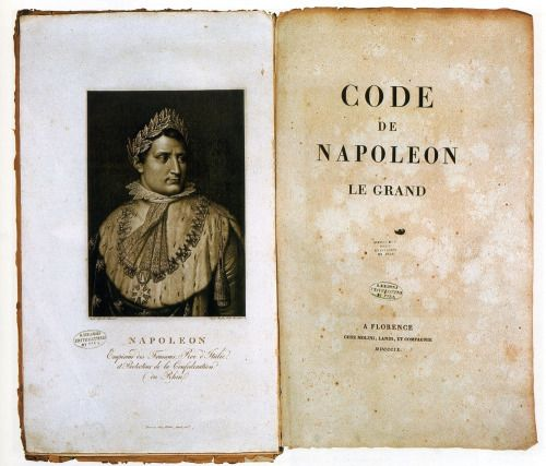 World History: The Napoleonic Code   The Napoleonic Code is the French civil code established under Napoleon I in 1804. The code forbade privileges based on birth, allowed freedom of religion, and specified that government jobs should go to the most qualified. The Code, with its stress on clearly written and accessible law, was a major step in replacing the previous patchwork of feudal laws. The Napoleonic Code was the first modern legal code to be adopted with a pan-European scope, and it…