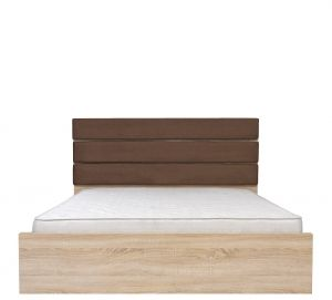 LOZ/160 VENOM MIX bed. Double bed with upholstered headboard. Modern design. Upholstery headboard: brown fabric. Bed slats included (made ​​of wood). Required Mattress dimensions: width 160 cm, length 200 cm. Polish Brw Modern Furniture Store in London, United Kingdom #furniture #polish #brw #bed #beds