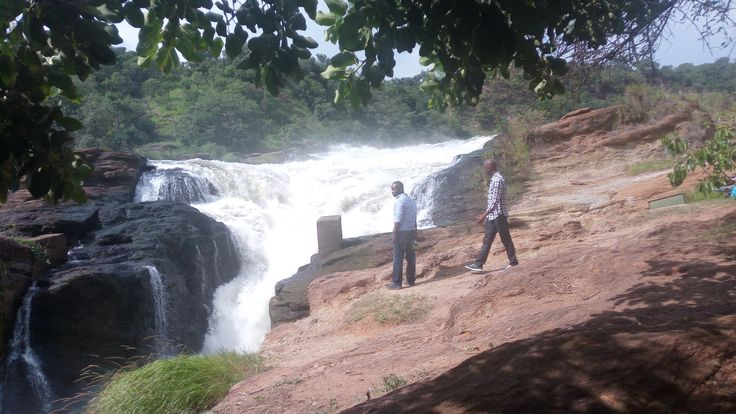 Sight seeing at the Top of the falls in Murchison Falls Park by Katona Tours