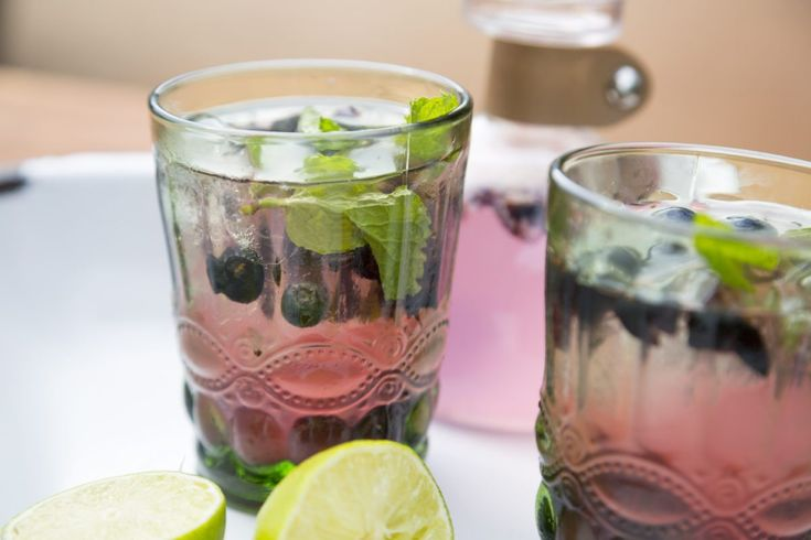 Lime, Cardamom and Blueberry Gin Fizz - Sarah Graham Food
