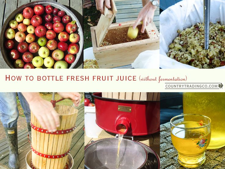Store fresh fruit juice for use throughout the year using only natural preservatives.
