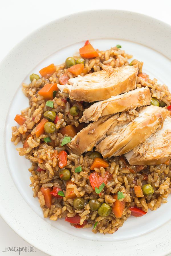 Instant Pot Teriyaki Chicken and Rice Recipe (pressure cooker)