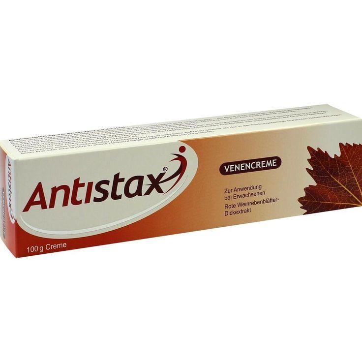 ANTISTAX Venencreme:   Packungsinhalt: 100 g Creme PZN: 10347319 Hersteller: Boehringer Ingelheim Pharma GmbH & Co.KG Preis: 10,28 EUR…