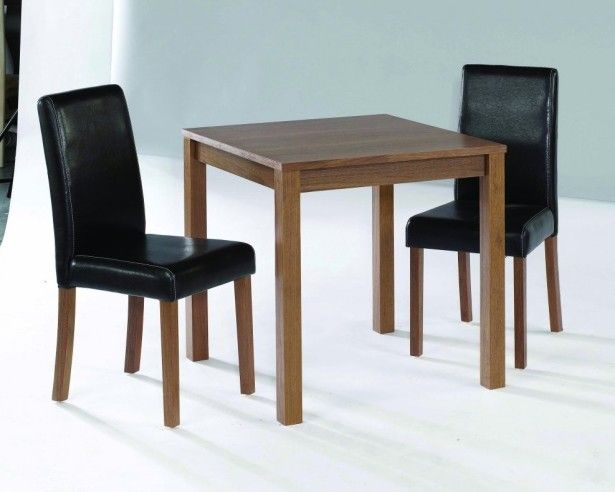 Dining room elegant small dining tables with two black for Small black dining room table