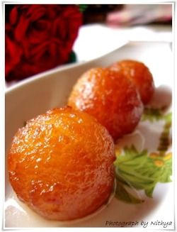 gulab jamun (indian donuts) click here for recipe