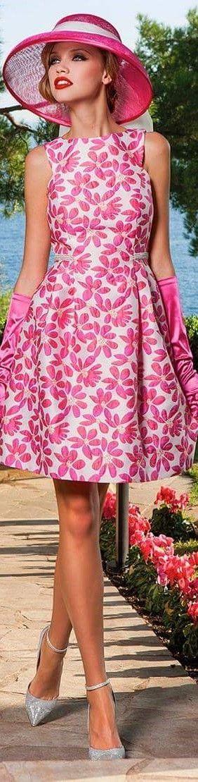 Sonia Peña white pink dress @roressclothes closet ideas #women fashion outfit #clothing style apparel