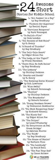 Ideas for stories for high schools students that make for good lit circle discussions.