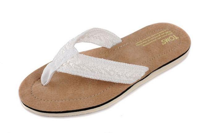 Toms slippers on sale white $25.88-tomsoutletonsale.org
